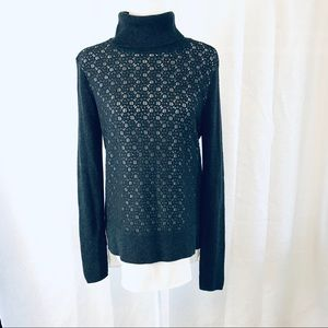 SIMPLY VERA WANG Turtleneck Lace Sweater L